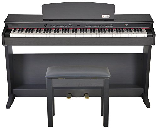 Artesia DP-2 Series Traditional Console Digital Piano with Matching Bench, Dark Rosewood