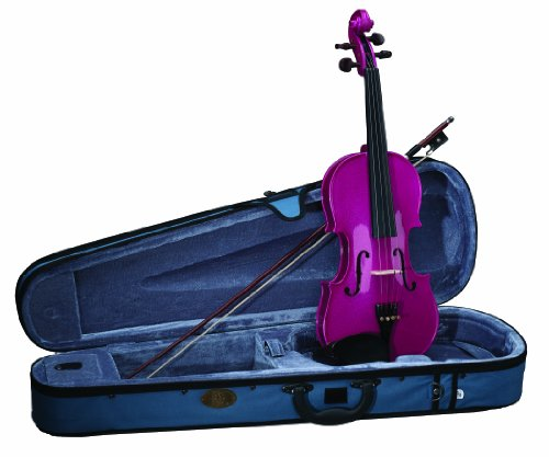 Stentor 1401PK-3/4 Harlequin Series Pink Violin Outfit