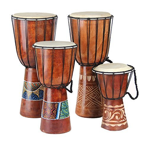 DharmaObjects Djembe Congo Bongo African Percussion Drum – Professional Sound Extra Large 27″ X 11″
