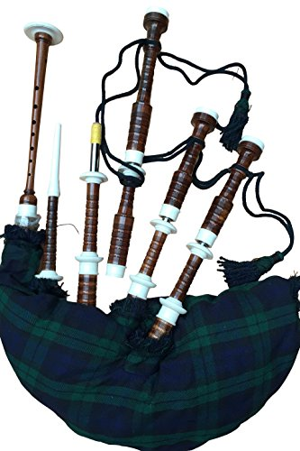 McWilliams Scottish Great Highland Silver Mount Bagpipe with Hardbox
