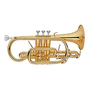 Funion Cornet Outfit Bb Key, Tuning Slide trigger, Gold lacquer With Case, Gloves,Cleaning Cloth