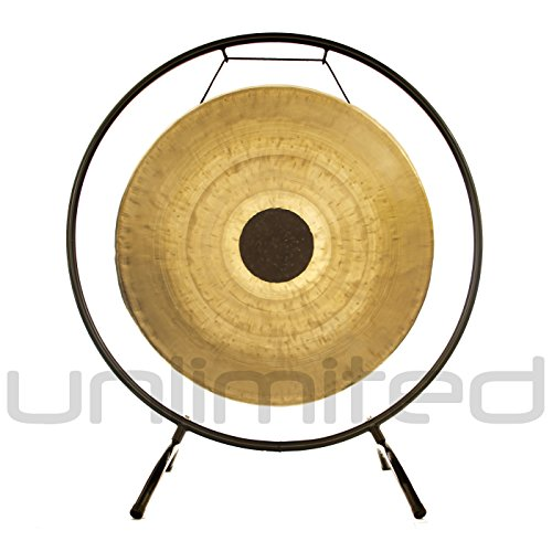 22″ Chocolate Drop Gong on the Holding Space Gong Stand