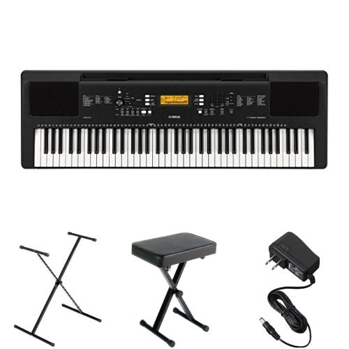 Yamaha PSREW300 Keyboard Bundle with Stand, Bench and Power Adapter