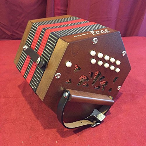 NEW Stagi M-3 Mahogony Anglo Concertina M 20, C-G, Made in Italy, Carrying Sack
