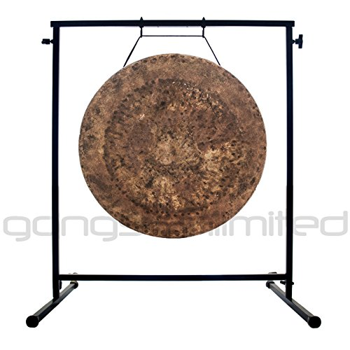 22″ Atlantis Gong on the Fruity Buddha Gong Stand