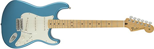 Fender Standard Stratocaster Electric Guitar – Maple Fingerboard, Lake Placid Blue