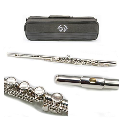 Legacy FL750-II Intermediate Sterling Silver Plated Student Flute Outfit with 2 Year Warranty