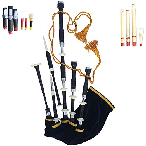 Great Highland Full Set of Bagpipe Made of Rose Wood With Nickel Sliver Mounts.