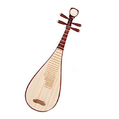 Stringed Instrument Professional Red Rosewood Polished Pipa Chinese Guitar / Lute for Performance Free Case and Adhesive Tape for Nails