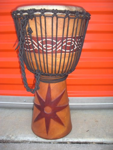 HOLIDAY SALE ~ 24″ X 14″ Djembe Deep Carved Hand Drum Bongo – Model # 60m6