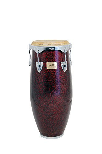 Tycoon Percussion 11.75 Inch Concerto Series Red Pearl Conga With Single Stand