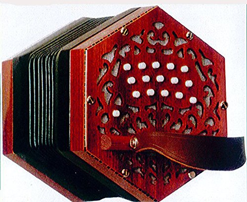NEW Stagi W-15-MS Mahogany Anglo Concertina M 30 Button Made in Italy