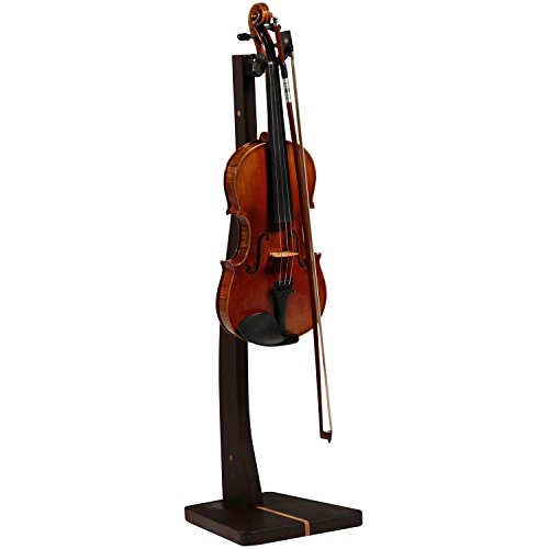 Zither Wooden Violin or Viola Stand – Handcrafted Solid Walnut Wood Floor Stands, Made in USA