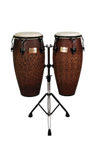 Tycoon Percussion STCS-B CO/D 10-Inch Requinto and 11-Inch Quinto Conga Drum – Chiseled Orange