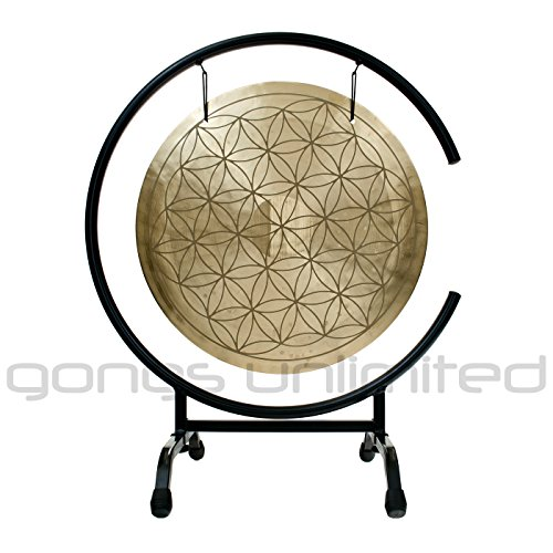 16″ Flower of Life Wind Gong on High C Gong Stand