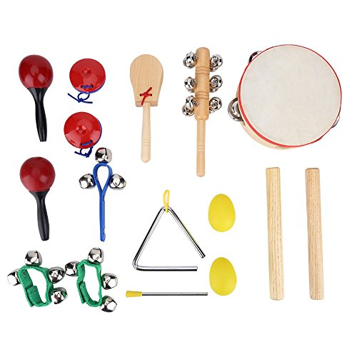 16 Pcs Kids Percussion Musical Instruments Toy Set Children Gift Educational Toys Rhythm Band Set With Storage Bag