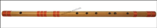 Bansuri Professional, Maharaja Musicals, Scale E Natural Bass 29.5 Inches, Indian Bamboo Flute, Concert Quality, Tuned, Includes Nylon Pipe Bag, Hindustani Bansuri Flute Indian (PDI-CFG)