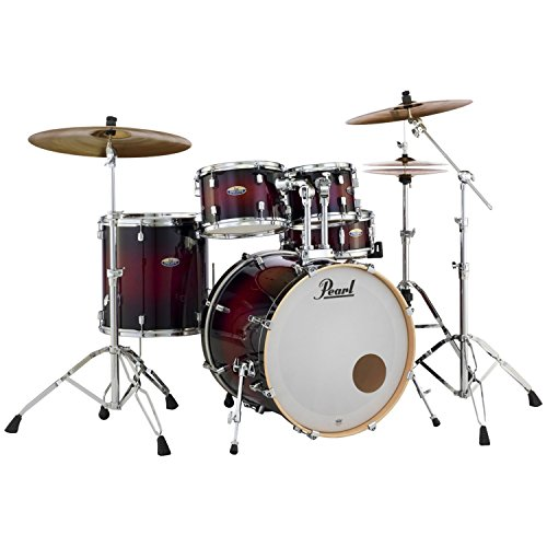 Pearl DMP925SP/C Decade Series Maple 5 PC Gloss Deep Red Burst Shell Pack w/ Mini Bass Drum Muffler