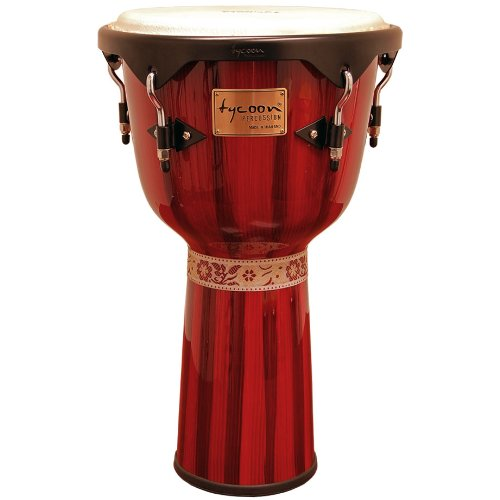 Tycoon Percussion 12 Inch Artist Series Djembe – Red Finish