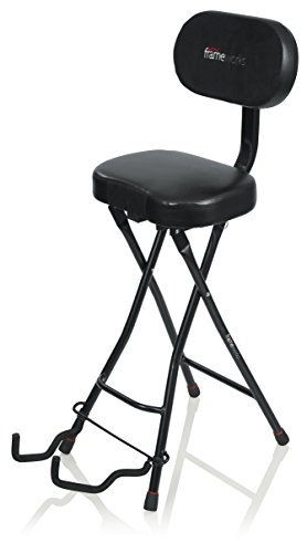 Gator Frameworks Combination Guitar Performance Seat and Single Guitar Stand (GFW-GTR-SEAT)