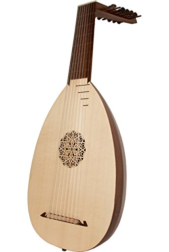 Roosebeck Lute 8 Course 30 Inch Canadian Spruce + Book & Padded Gig Bag