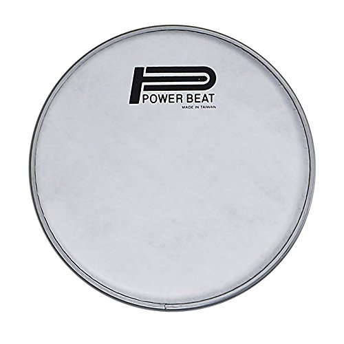 "Power Beat Drum Head Imitation Lamb Suede Drum Head 0.188mm Collar /0.5""- For Darbuka/Doumbek Sombaty size (White Fabric) … (8.75"" – Classic Size)"