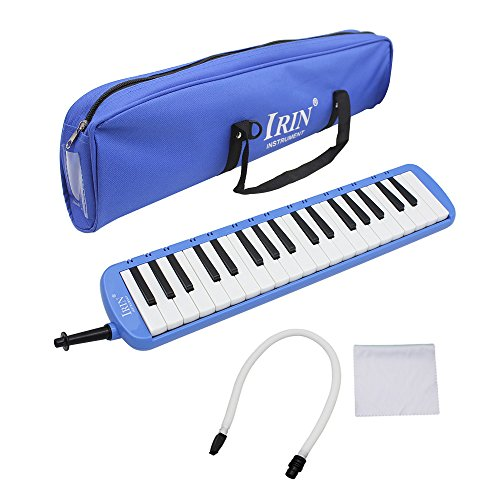 Mowind 37 Piano Keys Melodica Musical Instrument for Music Lovers Beginners Gift with Carrying Bag (Blue)