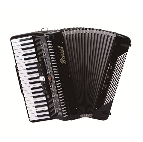 Parrot Piano Accordion YW827 41 Key 120 Bass with 7-3 Switches Black