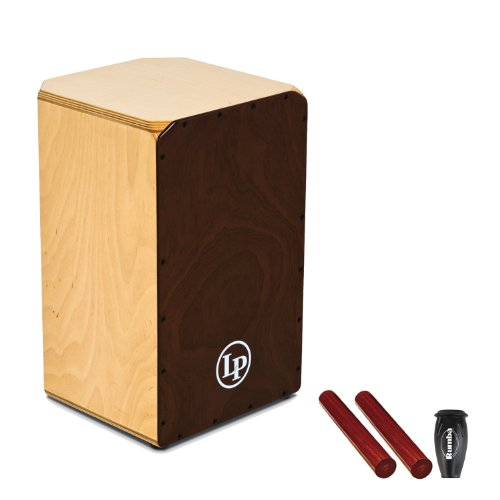 LP Americana Cajon, String Style with Shaker and Claves