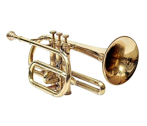 Shreyas Cornet Bb Pitch With Free Hard Case And Mouthpiece,Nickel + Brass
