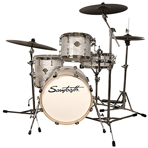 Sawtooth ST-COM-4PC-18-WO Command Series 4-Piece Shell Pack with 18″ Bass Drum, White Oyster