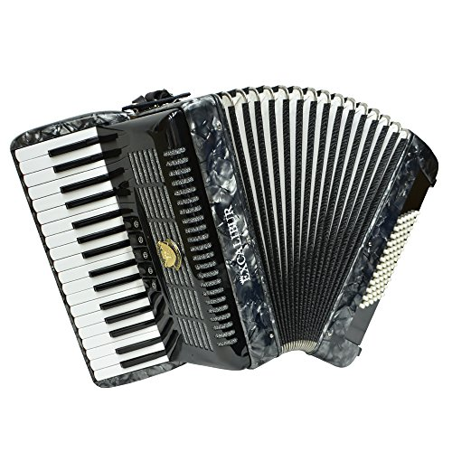Excalibur Weltbestin Ultralight 72 Bass Accordion – Pearl Gray