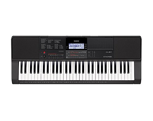 Casio CTX700 61-Key Touch Sensitive Portable Keyboard with Power Supply
