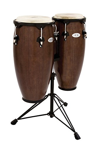 Toca Synergy Wood Conga Set w/ Double Stand – Tobacco Brown
