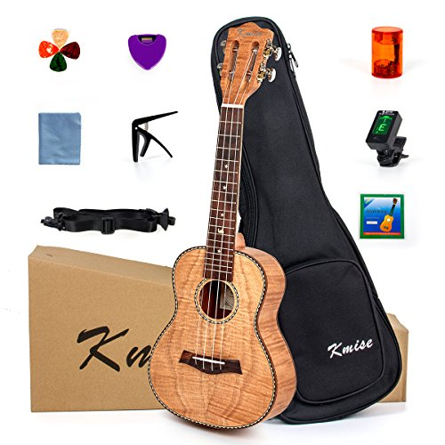 Ukulele 23 Inch Concert Ukelele For Beginner Kit Classical Type Tiger Flame Okoume Body From Kmise
