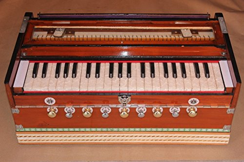 Indian Harmonium~9 Stopper~3 1/2 Octave~Teak Wood~7 Fold Bellow~Double Reed