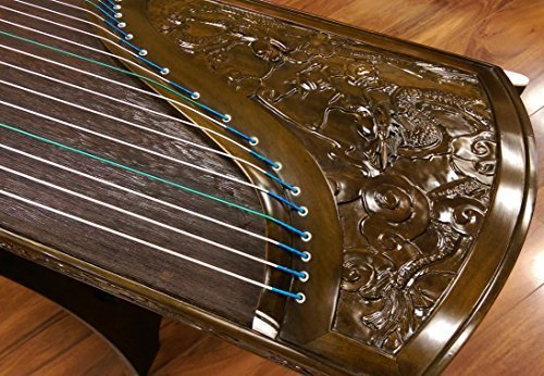 Sound of China Concert-grade Golden-thread Nanmu Guzheng with Carving