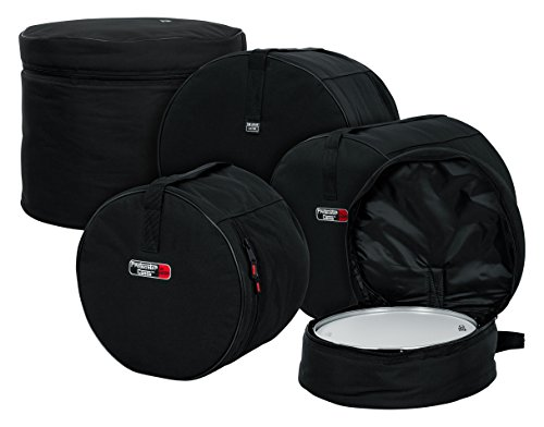 Gator Cases GP-FUSION16 Standard Padded Nylon Bag, 5 pack Set for Fusion Style Drum Kits with 16″ Floor Tom