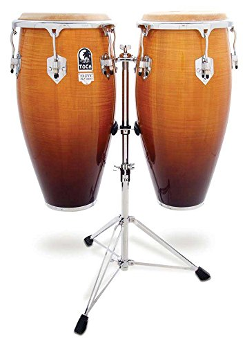 Toca Pro Elite Conga Drum Set w/ Stand – Natural Fade
