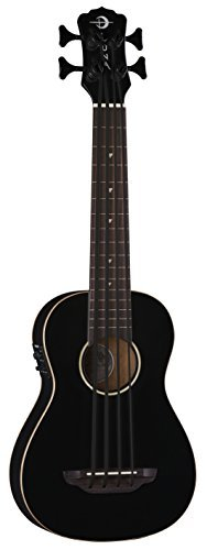 Luna UKE BBASS CBK Bari-Bass Ukulele with Preamp, Classic Black