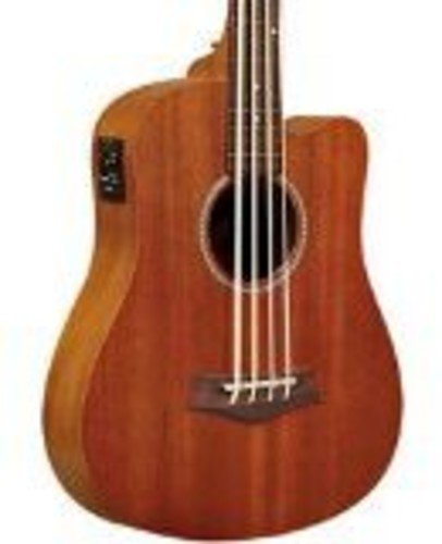 Gold Tone GT-Series M-Bass/FL 4-String Acoustic MicroBass Fretless for Electric Bass Guitar – Natural