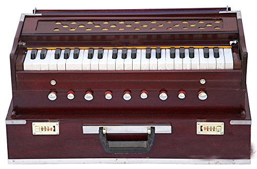 Folding harmonium , 9 Stop, Rosewood, Safri, Well-Tuned, A440, 42 Keys, With Coupler