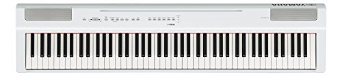 Yamaha P125 88-Key Weighted Action Digital Piano with Power Supply and Sustain Pedal, White
