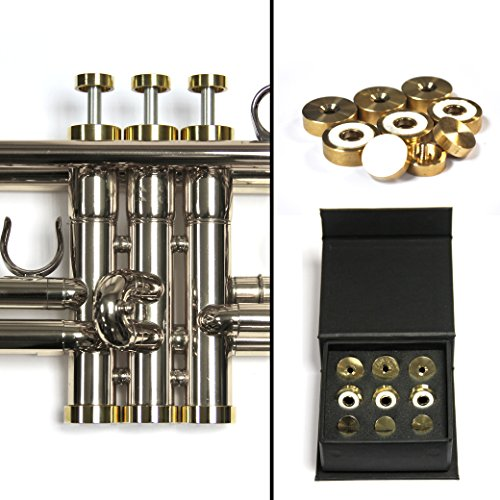 Trumpet Trim Kit for improving the sound. for all Yamaha & Stomvi Trumpet. Custom made KGUBrass (LIGHT, Raw Brass)