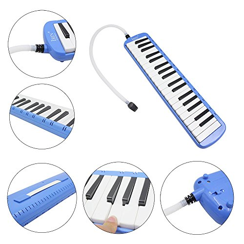WINDMAX Blue 37 Key Melodica & Deluxe Carrying Case