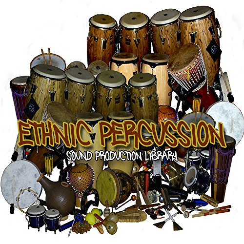 ETHNIC Percussion Instruments and Sounds – Large 24bit Samples Library 1.4 GB on DVD or download
