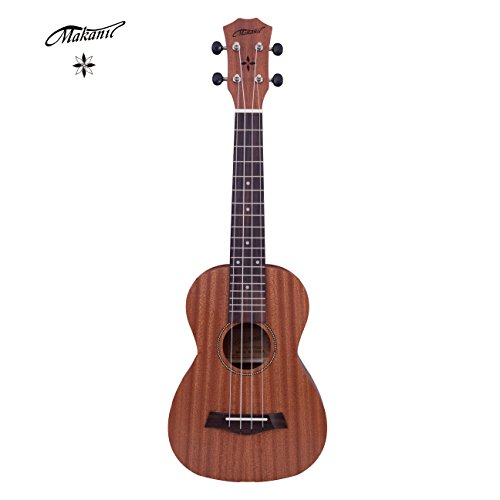 Makanu Concert Ukulele 24 Inch Ukulele with Gig Bag for Beginners Matte Finish Sapele Ukulele