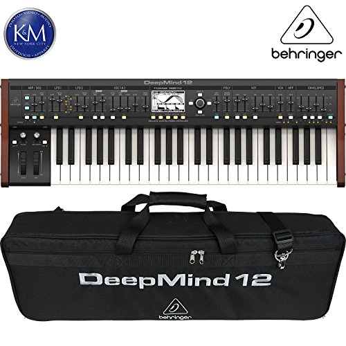 Behringer DeepMind 12 True Analog 12-Voice Polyphonic Synthesizer + Behringer DEEPMIND 12-TB Deluxe Water-Resistant Transport Bag