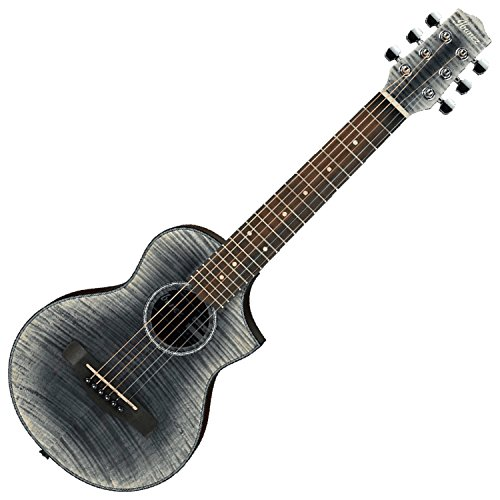 Ibanez EWP32FMG-BK Acoustic Piccolo Guitar, Glacier Black Open Pore