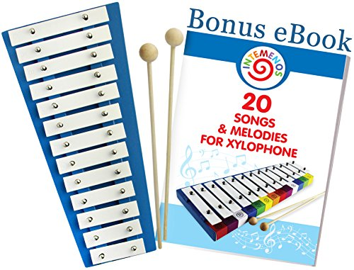 Kids Xylophone – Glockenspiel with 20 Song Music Sheets Ebook